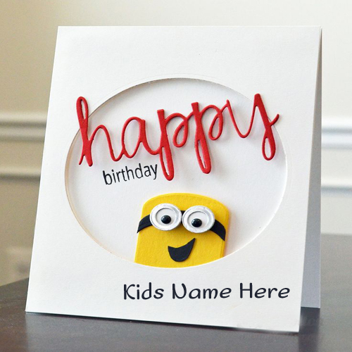 Handmade Birthday Wishes eCard With Brother Name – E Birthday Cards for Children