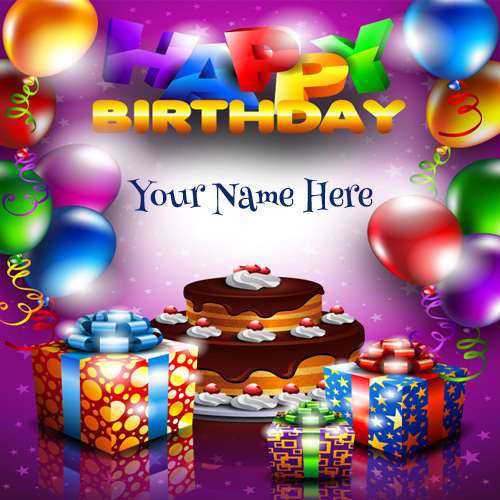 Write Your Name On Beautiful Card For Any Friend – Birthday Card Editing Photo