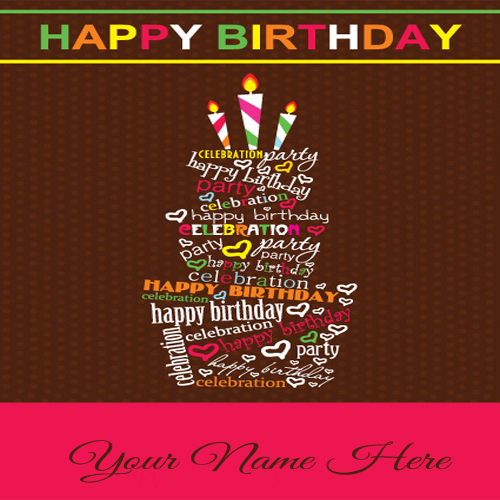 Birthday Card For Friend With Cake Imgkid The