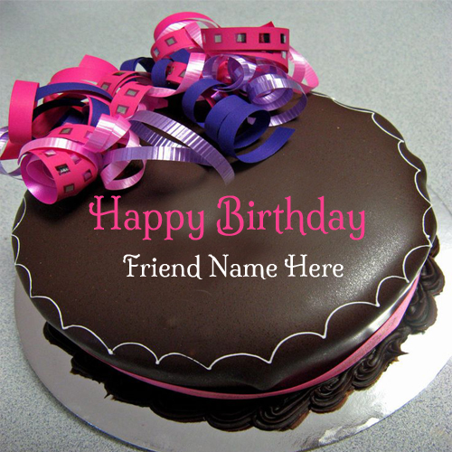 Birthday Cake Images With Photo Editing ~ Chocolate birthday cake with name editor