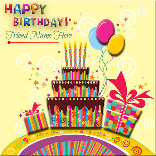 Generate Happy Birthday Card With Gifts and Cake For Friend – What to Write in Friends Birthday Card