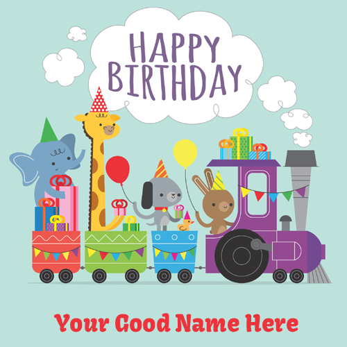 Write name on happy birthday wishes cards for kids happy birthday card for kids with your name bookmarktalkfo Gallery