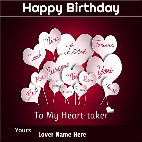 Name on happy birthady wishes cards for lover write name on happy birthady wishes cards for lover bookmarktalkfo Image collections