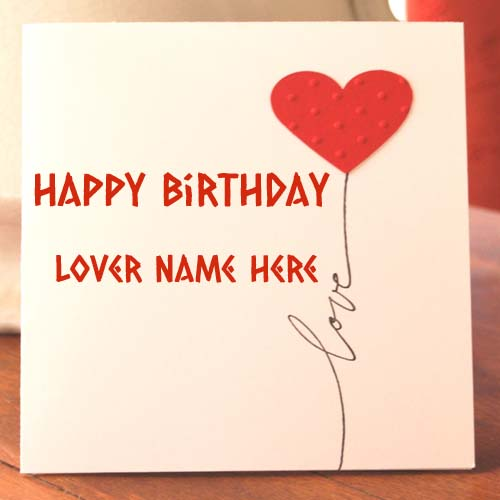 Write Name On Birthday Cakes And Cards