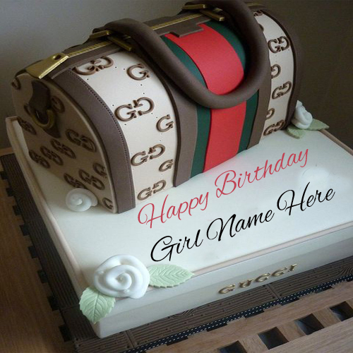 Write Name On Hand Bag Birthday Cake For Girls Online Free