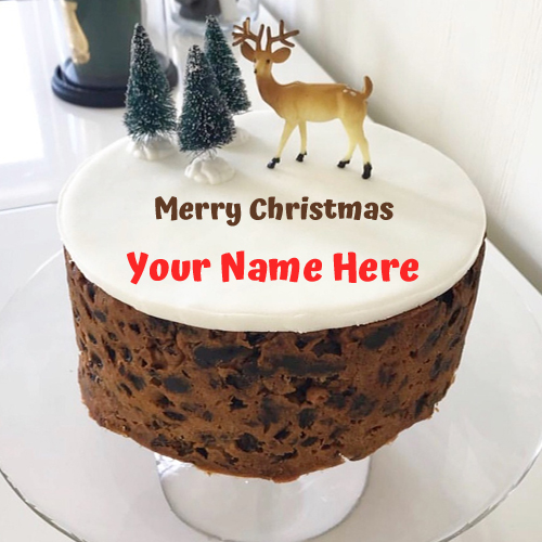 The Cutest Christmas Cake With Your Name